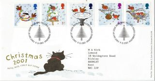 6 November 2001 Christmas Royal Mail First Day Cover Shs photo