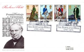 22 August 1979 Sir Rowland Hill Post Office First Day Cover Stratford Coach Shs photo