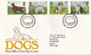 7 February 1979 Dogs Post Office First Day Cover Bureau Shs photo