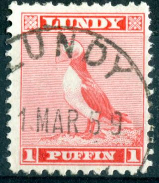 Lundy Island 1957 Standing Puffin Definitives 1 Puffin Vermillion Fine photo