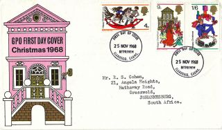 25 November 1968 Christmas Gpo First Day Cover Bethlehem Fdi photo