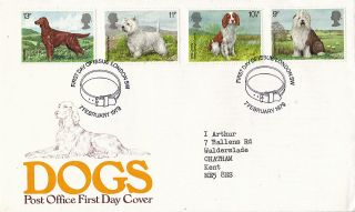 7 February 1979 Dogs Post Office First Day Cover London Sw Shs photo