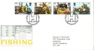 23 September 1981 Fishing Post Office First Day Cover Better Hull Shs photo