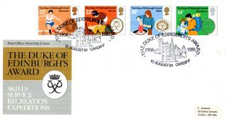 12 August 1981 Duke Of Edinburgh Awards Post Office First Day Cover Cardiff Shs photo