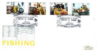 23 September 1981 Fishing Post Office First Day Cover Manchester Weather Centre photo