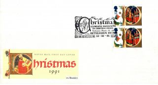 12 November 1991 Christmas Ex Booklet Royal Mail First Day Cover Bethlehem Shs photo