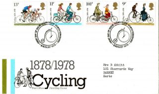 2 August 1978 Cycling Centenary Post Office First Day Cover Harrogate Shs photo