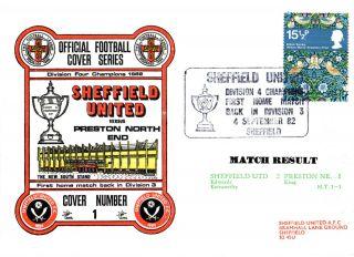 4 September 1982 Sheffield United 2 Preston North End 1 Commemorative Cover photo