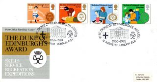 12 August 1981 Duke Of Edinburgh Awards Post Office First Day Cover London Shs photo