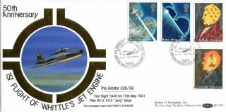 5 March 1991 Scientific Achievement Benham Blcs 62 Fdc Raf Cranwell Shs photo