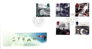 18 January 1994 Age Of Steam Royal Mail First Day Cover House Of Commons Sw1 Cds photo