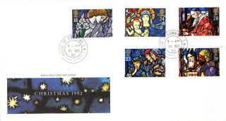 10 November 1992 Christmas Royal Mail First Day Cover House Of Commons Sw1 Cds photo