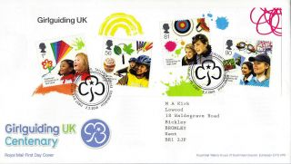 2 February 2010 Girlguiding Uk Centenary Royal Mail First Day Cover Shs photo