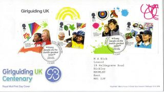 2 Feb 2010 Girlguiding Uk Centenary Royal Mail First Day Cover Blackburn Shs photo