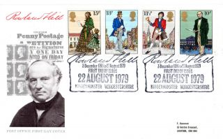 22 August 1979 Sir Rowland Hill Post Office First Day Cover Kidderminster Shs (d photo