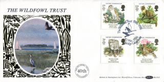 20 May 1986 Nature Conservation Benham Blcs 12 First Day Cover Slimbridge Shs photo