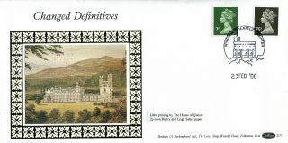 23 February 1988 2p & 75p Definitives Benham D 77 First Day Cover Windsor Shs photo