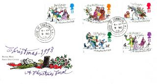 9 November 1993 Christmas Royal Mail First Day Cover House Of Commons Sw1 Cds photo