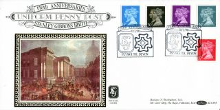 10 January 1990 Penny Black Anniversary Benham 48 First Day Cover Plymouth Shs A photo