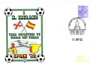 14 June 1982 Northern Ireland Depart To The World Cup Finals Commemorative Cover photo