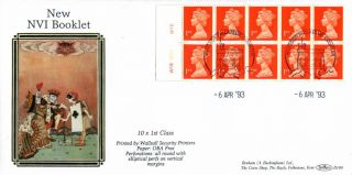 6 April 1993 £2.  40 Nvi Booklet Cyl Walsall Benham D 199 First Day Cover Windsor photo