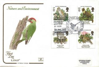 1986 Nature Conservation Fdc Hampshire & Iow Naturalists Trust Sp Pmks Lovely photo
