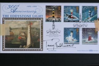 Autographed Tony Bullimore Signed Lighthouse Fdc Yacht Sailor Blcs141 photo
