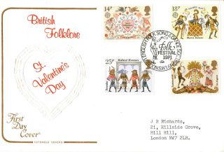 6 February 1981 Folklore Cotswold First Day Cover Festival Shs photo