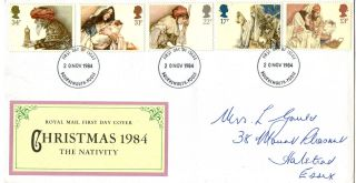 20 November 1984 Christmas Royal Mail First Day Cover Bournemouth Poole Fdi photo