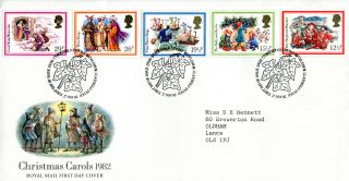 17 November 1982 Christmas Royal Mail First Day Cover Bethlehem Shs A photo