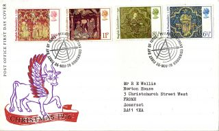 24 November 1976 Christmas Post Office First Day Cover Bureau Shs (a) photo