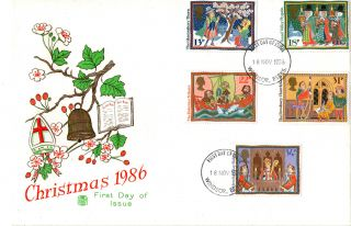 18 November 1986 Christmas Stuart First Day Cover Windsor Fdi photo