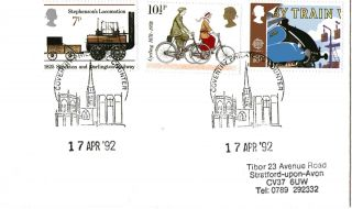 17 April 1992 Transport Cover Coventry Philatelic Counter Shs photo