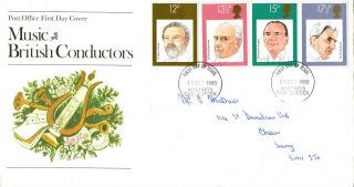 10 September 1980 Famous Conductors Post Office First Day Cover Hastings Fdi photo