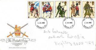 6 July 1983 British Army Royal Mail First Day Cover Bradford W Yks Fdi photo