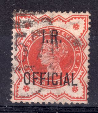 Gb = Town/village Cancel.  On Qv Stamp,  `?57 / ???` I.  R.  Official photo