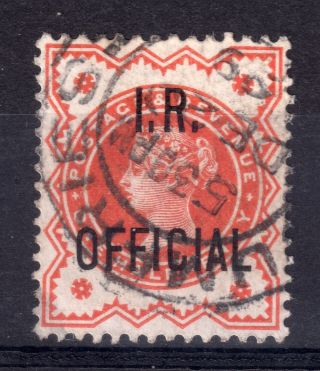 Gb = Town/village Cancel.  On Qv Stamp,  `dumfries` I.  R.  Official photo