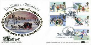 13 November 1990 Christmas Benham Blcs 59 First Day Cover Windsor Shs (a) photo