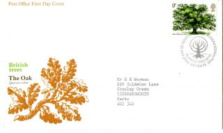 28 February 1973 The Oak Tree Po First Day Cover Plant A Tree Bureau Shs (a) photo