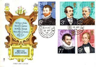 18 April 1973 British Explorers Philart First Day Cover House Of Commons Cds photo