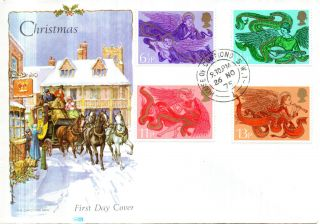 26 November 1975 Christmas Philart First Day Cover House Of Commons Sw1 Cds photo