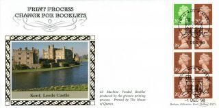 1 December 1998 £2 Mv Booklet Pane Benham D323 First Day Cover Windsor photo