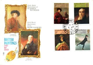 4 July 1973 British Painters Philart First Day Cover House Of Commons Cds photo