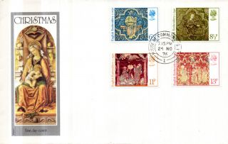 24 November 1976 Christmas Philart First Day Cover House Of Commons Sw1 Cds photo