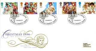 1 November 1994 Christmas Royal Mail First Day Cover The Nativity Bethlehem Shs photo