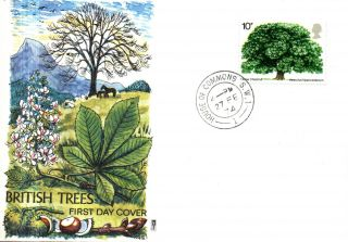 27 February 1974 The Horse Chestnut Tree Philart First Day Cover House Commons photo