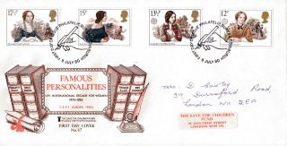 9 July 1980 Famous People Stcf First Day Cover Bureau Shs photo