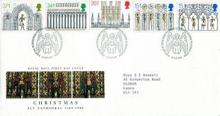 14 November 1989 Christmas Royal Mail First Day Cover Bethlehem Shs photo