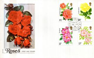 30 June 1976 Roses Philart First Day Cover House Of Commons Sw1 Cds photo