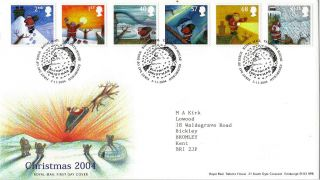 2 November 2004 Christmas Royal Mail First Day Cover Bureau Shs photo